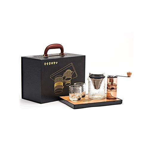 Dongbin Kaffeemaschine Satz, Kaffeefiltertasse, manuelle Mühle, Wieder verwendbare permanent Edelstahl papierlos Kegel-Filter |