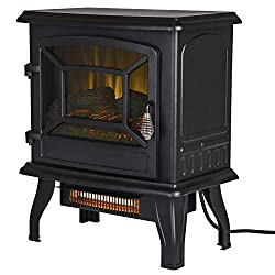 "Pleasant Hearth ES-217-10 17"" Infrared 2 Stage Heater Electric Stove, Black"