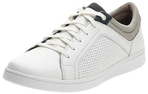 Geox U WARRENS - Sneaker da Uomo, Colore Bianco/Beige/Grigio, Bianco (Bianco, Beige, Grigio.) (Numeric_44)