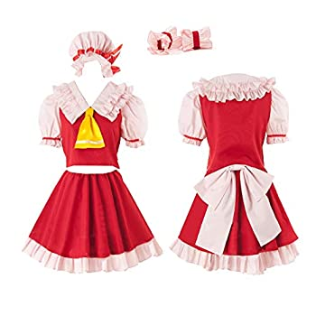 Touhou Project Flandre Scarlet Cosplay Costume Red Dress  women M