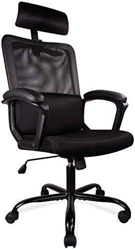 Ergonomic Office Chair High Back Office Chair Mesh Desk Chair with Padding Armrest Adjustable...