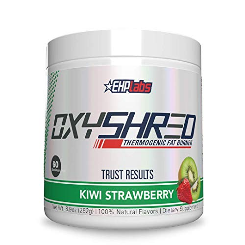 OxyShred Thermogenic Fat Burner by EHPlabs - Weight Loss Supplement, Energy Booster, Pre-Workout, Metabolism Booster (Kiwi Strawberry)
