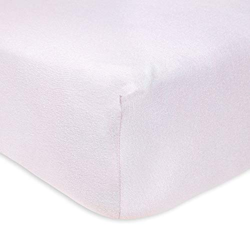 Burt's Bees Baby - Fitted Crib Sheet, Solid Color, 100% Organic Cotton Crib Sheet for Standard Crib and Toddler Mattresses (Soft Lavender)