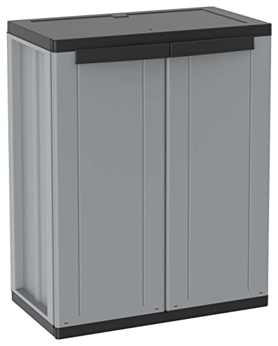 An image of the Terry 1002821 J-LINE 68 Plastic cabinet, 68 x 37.5 x 85 cm, Grey