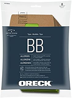 Genuine Oreck AK1BB8A Vacuum Bag for BB900-DGR Canister Vacuum Cleaner - (green, 8-pack bags + 1 motor filter) Replaces Oreck Part PKBB12DW