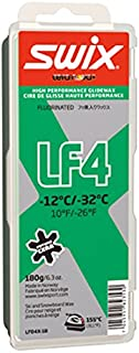 Swix LF04X-18 Cera Nova X Low Fluoro Performance Base Wax, Green, 180gm