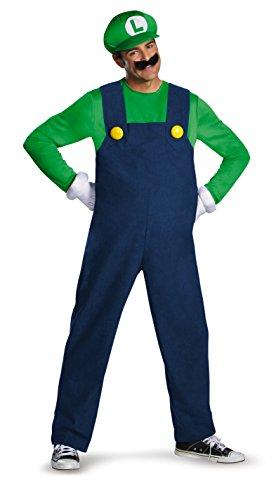 Nintendo Super Mario Bros DIS68085D Luigi - Disfraz de lujo, para hombre, talla XL