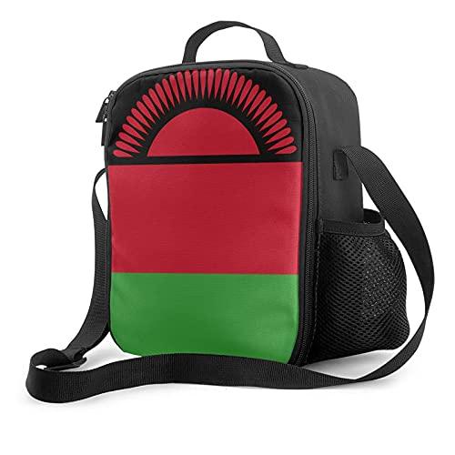 Isolierte Lunchtasche Flagge von Malawi Lunchbox mit gepolstertem isoliertem Innenfutter, Kühltasche