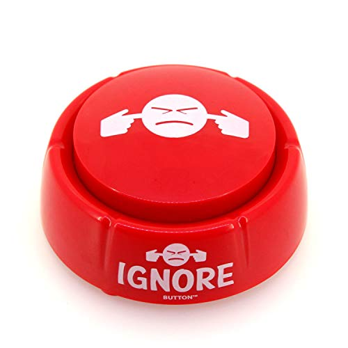 Ignore Button - Talking Button Features Funny Ignore Sayings - Talking Novelty Gift with Sound Clips