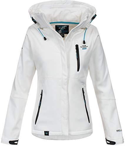 Geographical Norway Damen Outdoor Softshelljacke Touna B Kapuze White L