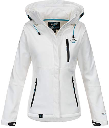 Geographical Norway Damen Outdoor Softshelljacke Touna B Kapuze White XL