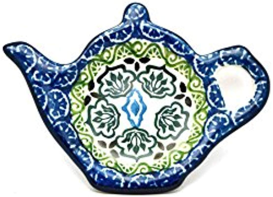 Polish Pottery Tea Bag Holder Tranquility
