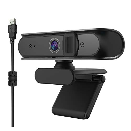 Rehomy Web Camera with Noise Concealing Mic 5MP Auto Focus Webcam for Computer Laptop Desktop PC Plug and Play