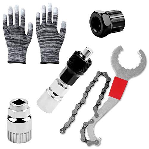 Fahrrad Reparatur Set,Fahrrad Kassette Removal Tool,Bike Tool Set,Fahrrad Reparatur Werkzeug,Demontage Werkzeug Fahrrad,Fahrradwerkzeug,Fahrrad Kurbelabzieher,Tretlager-Entferner,Ketten Werkzeug