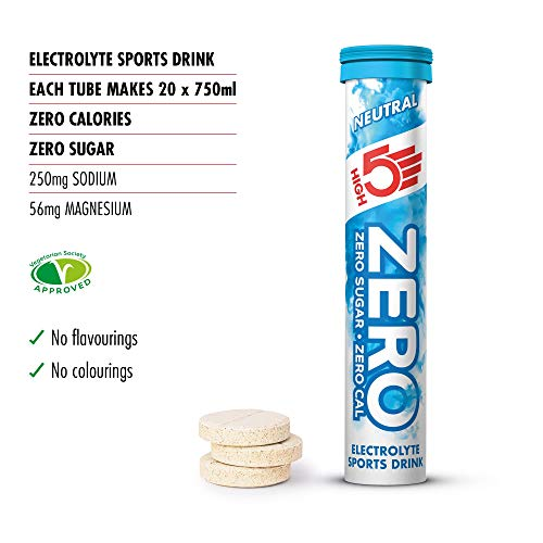 HIGH5 Zero Electrolyte Hydration Tablets Added Vitamin C (Neutral, 20 Count (Pack of 1))