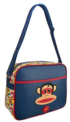 Paul Frank - Super Julius The Monkey Kunstleder Schultertasche Messenger Bag Navy