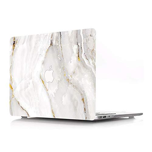 AJYX MacBook Pro 13 Pulgadas Estuche Modelo A1425 A1502 2015 2014 2013 2012 Protectora Plástico Carcasa para Portátil Solo Compatible con MacBook Pro 13' con Pantalla Retina, Mármol Blanco