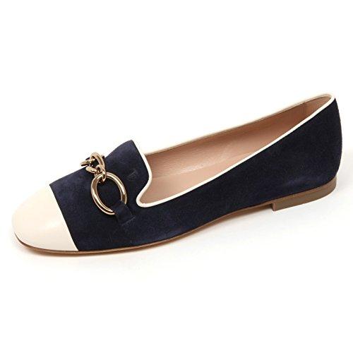 Tod's C9086 Ballerina Donna 13A Scarpa Avorio/blu Shoe Woman [36.5]
