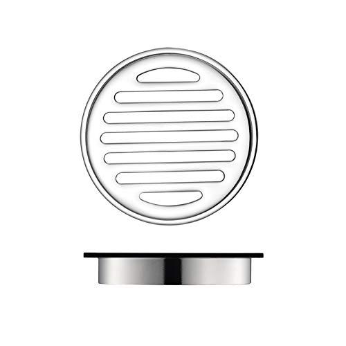 Runde Duschrinne Messing Bodenablauf Chrom Dusche Bodenablauf Großer Durchfluss Badezimmer Dusche Abfluss mit Abnehmbarer Abdeckung