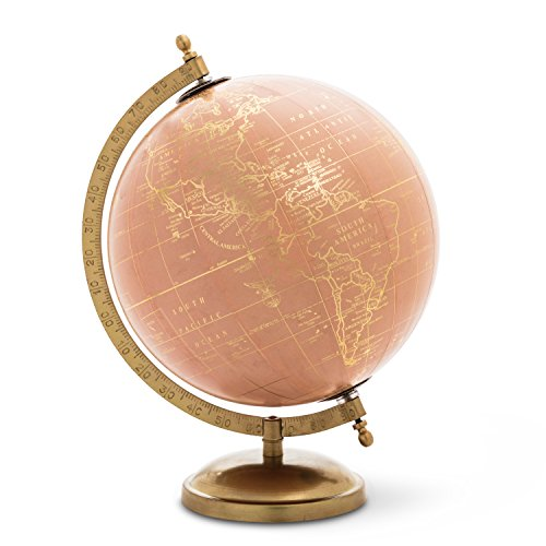 Abbott Collection 57-LATITUDE-01 Globe On Stand, Pink