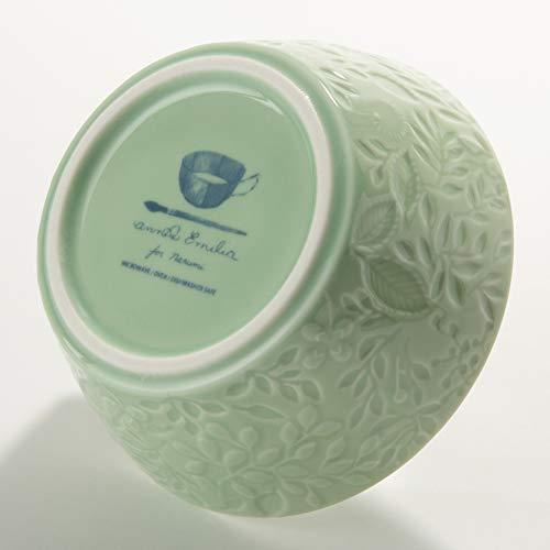 NARUMI(ナルミ) ボウル 皿 アンナ・エミリア ミッドサマーメドーグリーン 径12cm 電子レンジ温め 食洗機対応 日本製 41613-3880