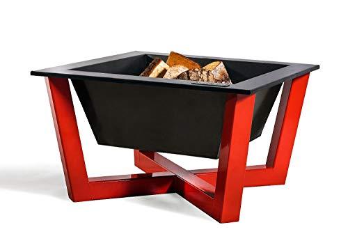Feuerschale Brasil red L 70cm Feuerstelle für Garten aus Stahl Feuerkorb als Wärmequelle oder Grill CookKing