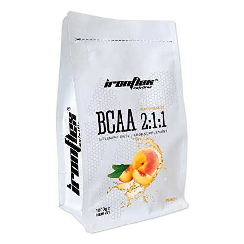 Iron Flex BCAA 2-1-1-1 Pack - Branched Chain Amino Acids in Powder - Muscle Regeneration - Anticatabolic (Peach, 1000g)