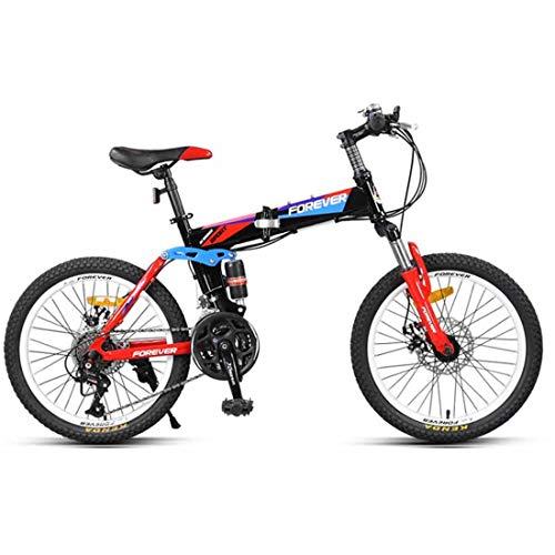 Pieghevole Bicicletta 20 inch Mountain Bike 21 velocità Bici Telaio in Acciaio ad Alto Carbonio Citybike per Adulti