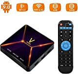 Android 9.0 TV Box, Super V TV Box 4GB RAM / 32GB ROM Rockchip 3318 Soporte Quad-Core 2.4GHz WiFi BT4.0 3D 4K HDMI DLNA 3D Smart TV Box