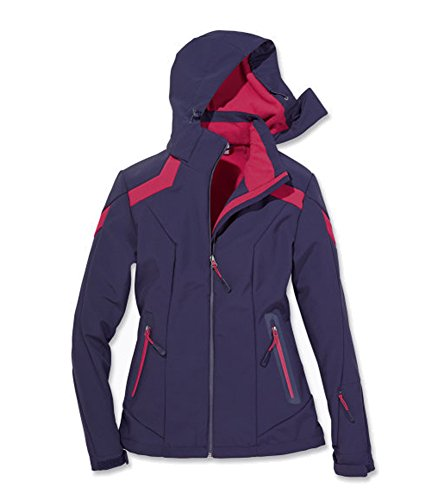 Damen Softshell Skijacke Snowboardjacke Rauchblau/Himbeer Gr. M 40/42 Ski Jacke