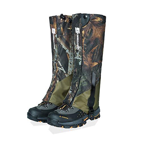 Cozylkx Waterproof Leg Gaiters - 500D Snow Boot Hunting Gaiters Snake Guard Leggings for Hiking Climbing
