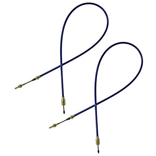 AB Tools 2 x Câble de Frein de remorque à Longue durée de Vie des systèmes d'Ifor Williams Knott, Gaine extérieure 14-30mm