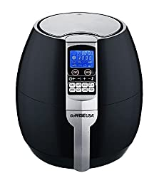 GoWISE USA 8-in-1 Electric Air Fryer with Digital Programmable Cooking Settings, 2.5 QT Black