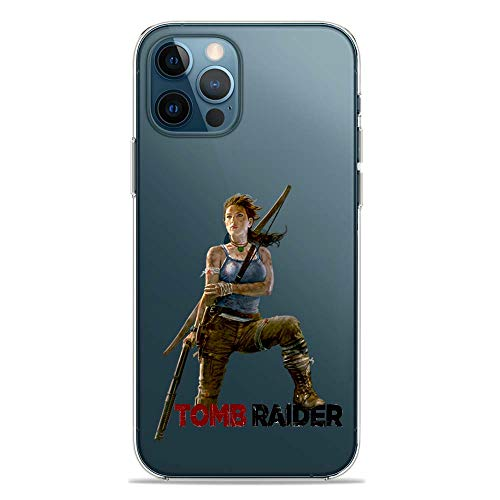 SLIDE IP12 PRO Cover TPU Gel Trasparente Morbida Custodia Protettiva, Game Collection, Tomb Raider, iPhone 12 PRO