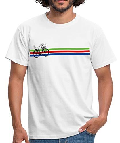 Albert Hofmann Entdecker LSD Fahrrad Männer T-Shirt, L, Weiß