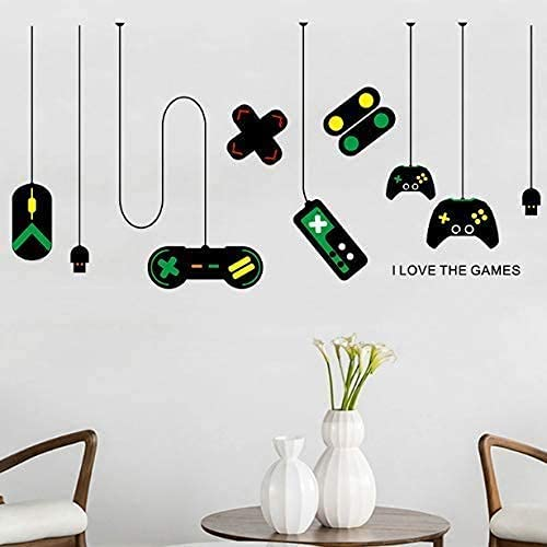 Consola De Juegos De Dibujos Animados Psp Wallpaper Computer Room Play House Pegatinas De Pared Extraíbles Internet Bar Wall Decal 140 * 80 Cm