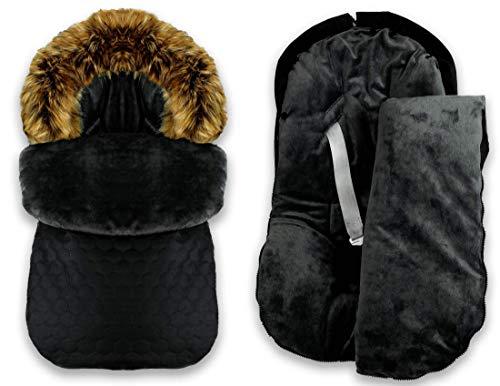 BlueKitty Fußsack, Winterfußsack, Kinderautositz 0-13 kg, Kinderwagensack, Schlafsack, Wasserdicht, Wasserabweisend, Winter, Herbst, 85 cm