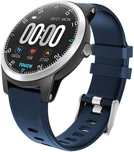 Bluetooth Smart Watch ECG PPG Double Heart Rate Monitor Sport Waterproof Smart Watch Fitness Tracker Bracelet-Blue