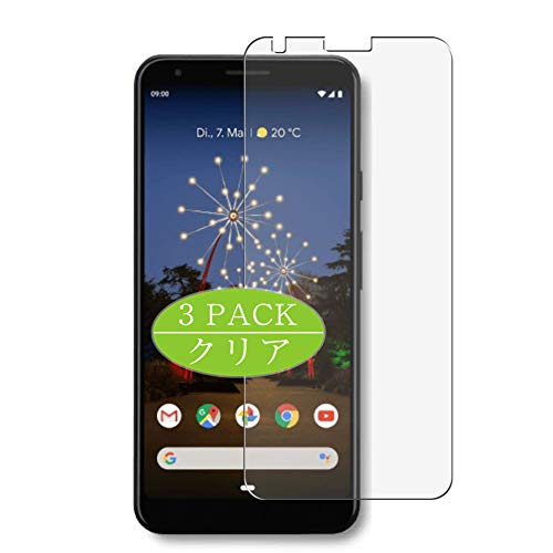Vaxson Pack of 3 Screen Protectors, Compatible with Google Pixel 3a, Screen Protector Bubble-Free [Not Tempered Glass]