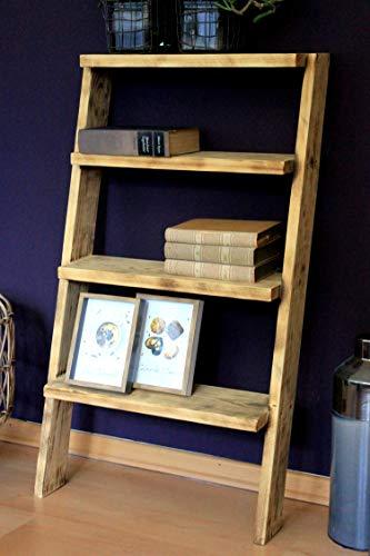 Houten bloementrap, boekenrek, decoratieve ladderrek, schoenenrek, gevlamd