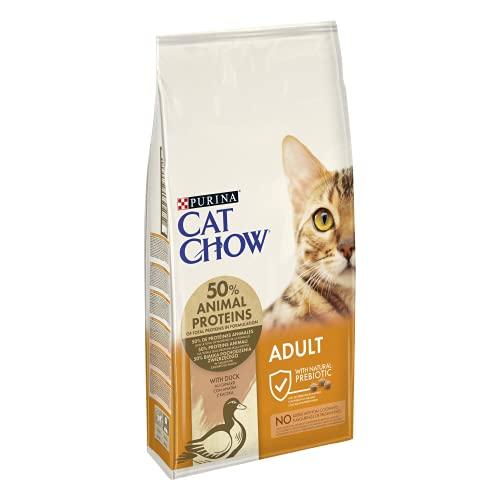 CAT CHOW Croquettes avec Naturiumtm Riche en Canard pour Chat Adulte 10 kg