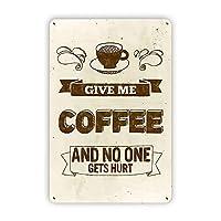 私のコーヒーメタルマーク、コーヒーウォール装飾、コーヒーエンターテイメントマーク、バー書店のコーヒーマーク8x12インチ