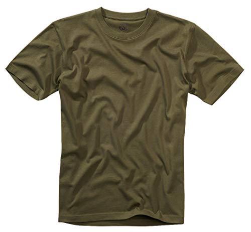 Brandit T-Shirt, Molti (Mimetico Colori, Taglie S Fino 7XL - Oliv, M