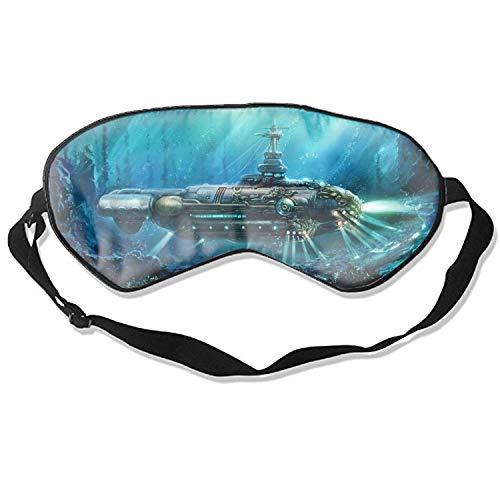Fantasy Unterwasser Steampunk U-Boot Nautilus Ocean Eye Cover Unisex ultimative Schlafhilfe Lidschatten