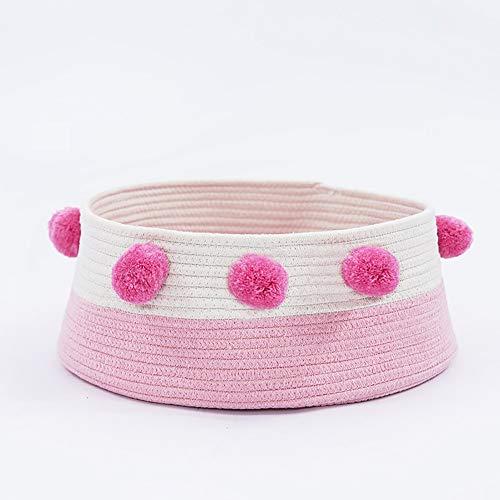 ETH Red Pink Four Seasons Cama Universal para Gatos Casa de Campo Villa pequeña Perrera Suministros para Mascotas Algodón de Pompon Tamaño del Gato: 40 * 40 * 16 cm Durable