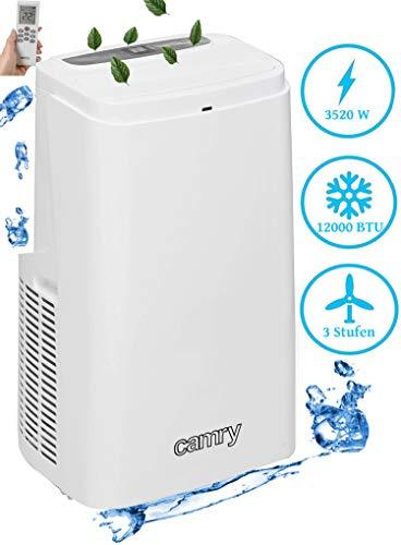3in1 Mobile Klimaanlage 12000 BTU 24h Timer Fernbedienung Nachtmodus 3 Geschwindigkeitsstufen Aircooler Klimagerät Klima Anlage Air Cooler Ventilator