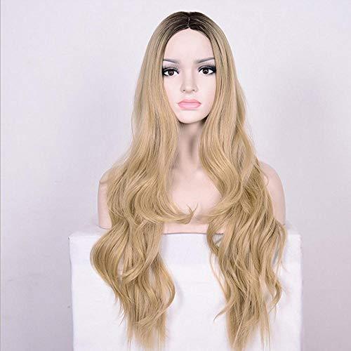 Peluca de cosplay muy natural para damas, fiesta / vestido de fantasía / peluca más sexy para dama, peluca ondulada muy larga