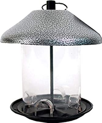 Heath Outdoor Products 21228 Hammered Pewter Mixed Seed Feeder Built in Mesh Perch