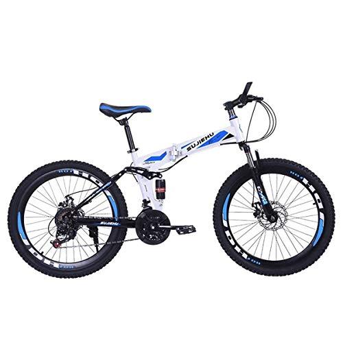 QZMJJ Off-Road Radfahren, Mountainbike-Jungen-Fahrräder 26 Zoll Klapprad mit robusten Stahl 6 Speichen integrierten Rad Premium Full Suspension und 24 Speed Gear, (Color : I)