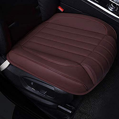 ZQTHL Car Seat Cover Cushion, Auto Bottom Front Driver & Passenger Seat Protector Pad with Leg Support Pillow /3D Edge Wrapping,for Most Vehicle,B,1PC